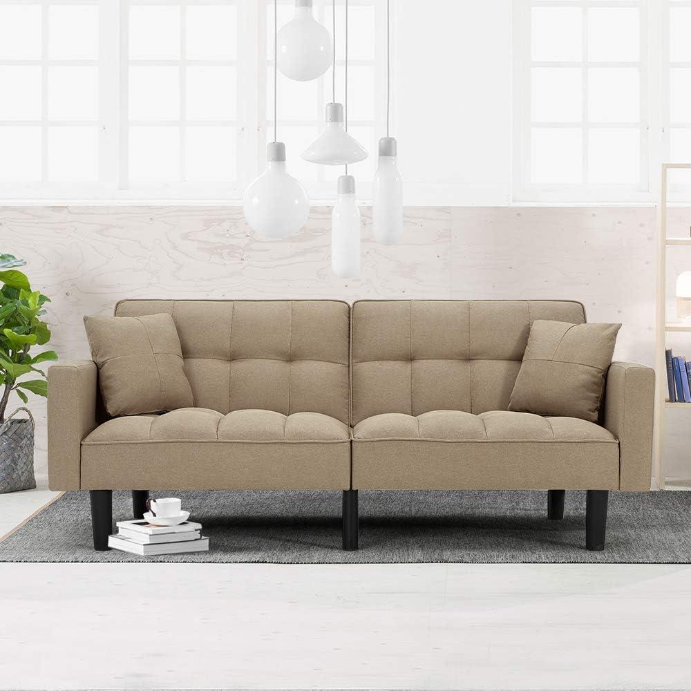 HOMHUM Convertible Futon Sofa