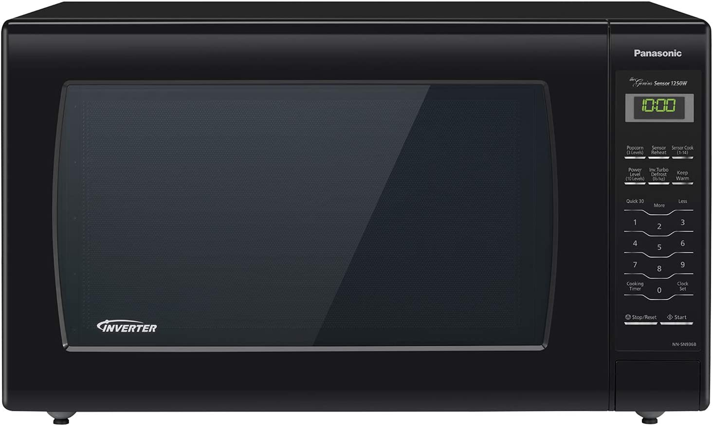 Panasonic Microwave Oven Black Countertop with Inverter Technology