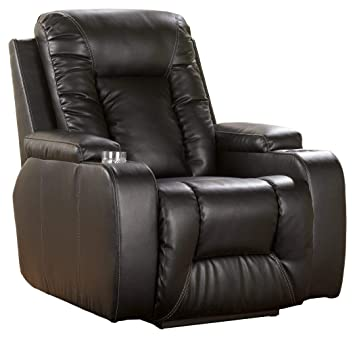 Outstanding Ashley Furniture Signature Design Matinee Recliner Power Reclining Chair Eclipse Black Machost Co Dining Chair Design Ideas Machostcouk