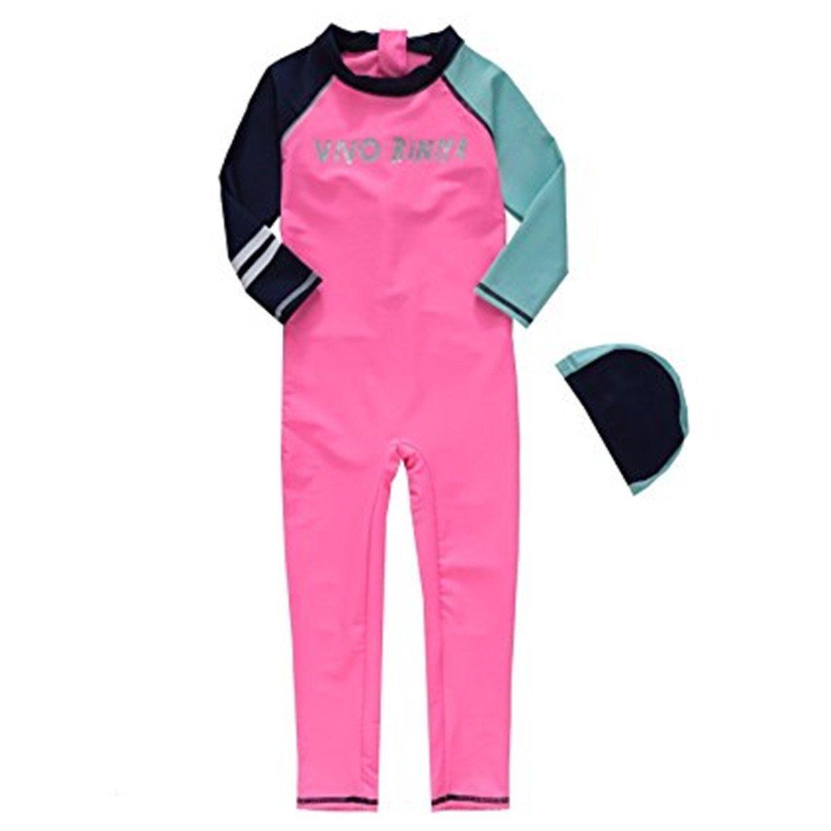 Sun Protection Rash Guard Swimsuit Caps Maylife Baby Kids Girls Boys One Piece Swimwear Long Sleeve UV 50