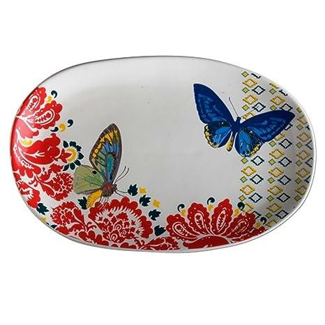 Amazon.com: Etiqueta plato, diseño de mariposa: Home & Kitchen