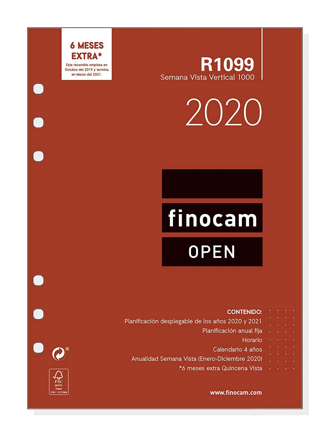 Amazon.com : Finocam - Annual Refill 2020 Week Vertical View ...