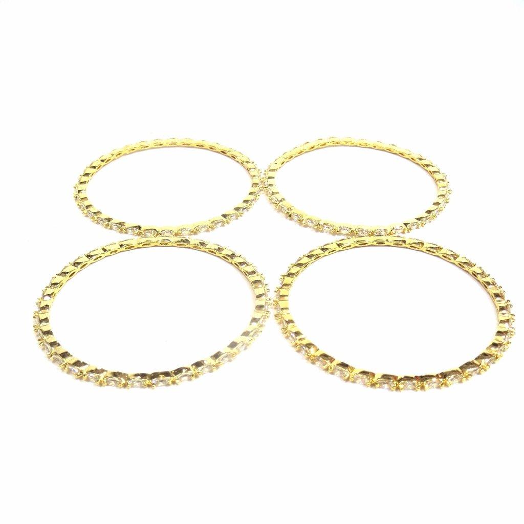 Jewelshingar Jewellery Fine Micro Plated Bangles For Girls ( 33357-jb-2.8 ) by Jewelshingar (Image #3)
