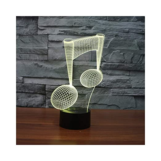 Amazon.com: Musical Character Creative 3D Night Light led Desk lamp Acrylic Touch Gradient Energy Saving lamp: Baby