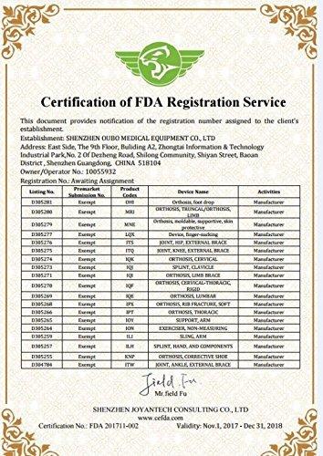 Corrector de Pie Tobillo Ortop/édica con FDA Attestation Tobilleras F/érula Soporte Foot Droop Orthosis Correcci/ón Right M