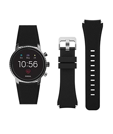WayLand Classic Silicone Replacement Smart Watch Band 22mm, for Fossil Q Explorist HR Gen 4 / Fossil Q Explorist Gen 3 / Fossil Q Wander, Marshal Gen ...