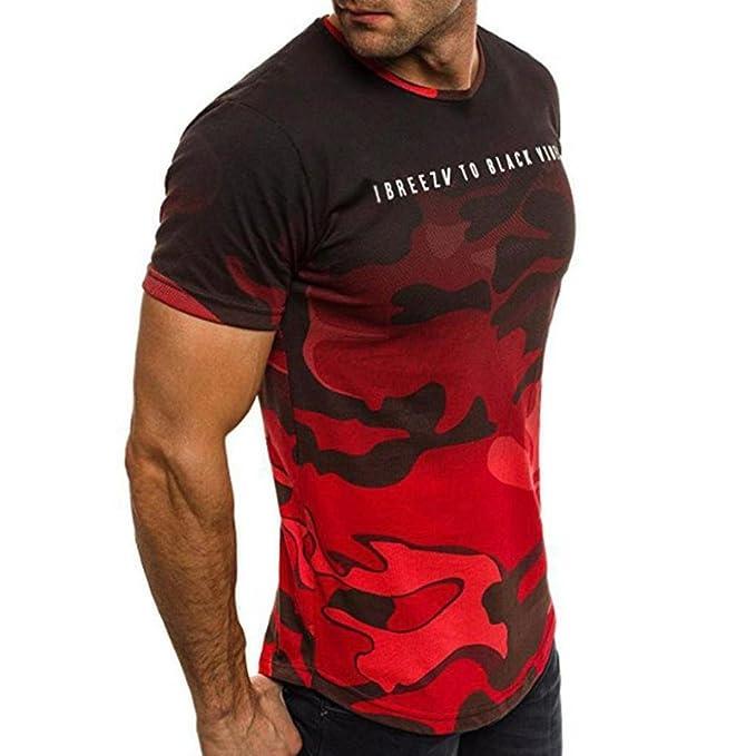 Resplend Camisa de Manga Larga Delgada de la Camisa de Manga Corta de los Hombres del