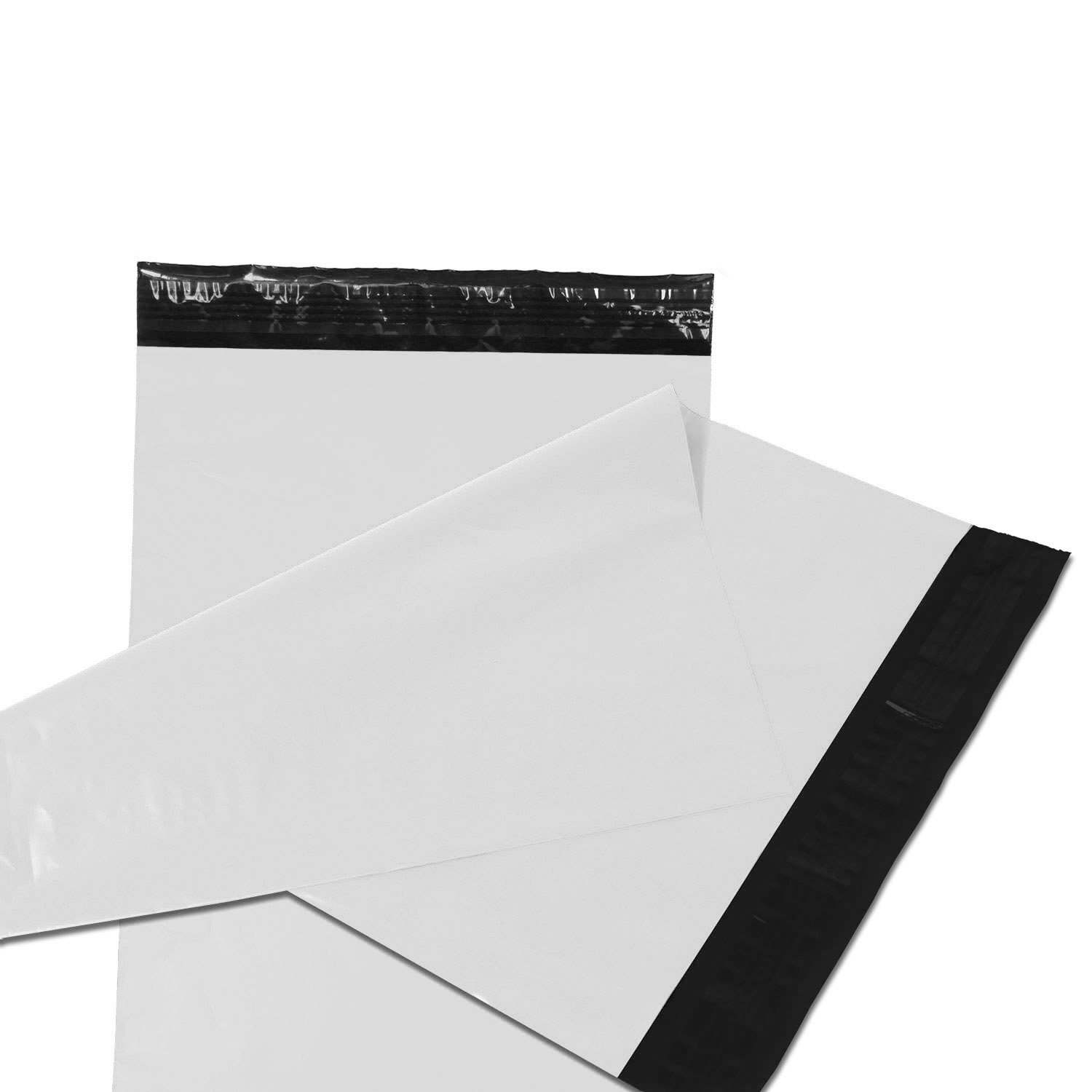 Empire Mailers - 100 (9 x 12) White Poly Mailers Self Seal Non-Padded Shipping Envelopes Courier Bags - Total 100 Envelopes