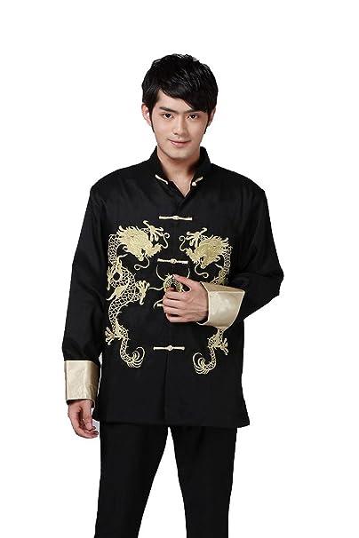 Amazon.com: Yuelian hombre Chino Tang traje ropa de color ...