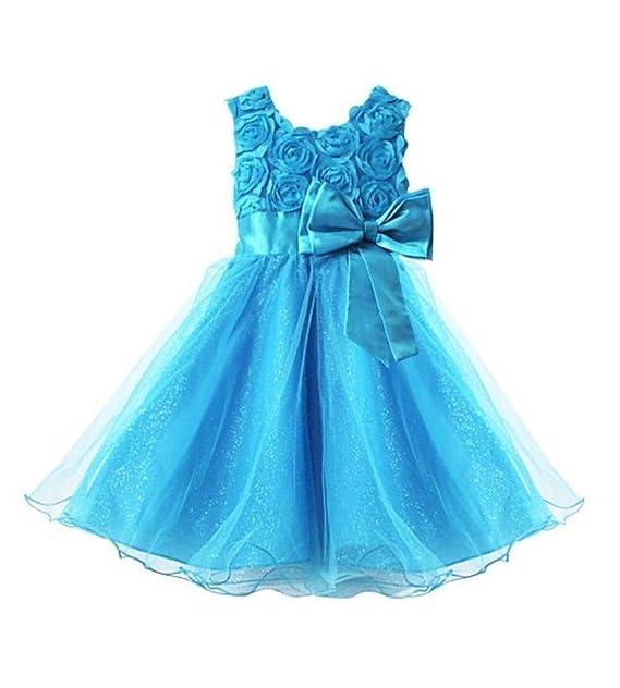 96e2c49a3 Live it Stylet it Vestido de dama de honor para niña, sin mangas