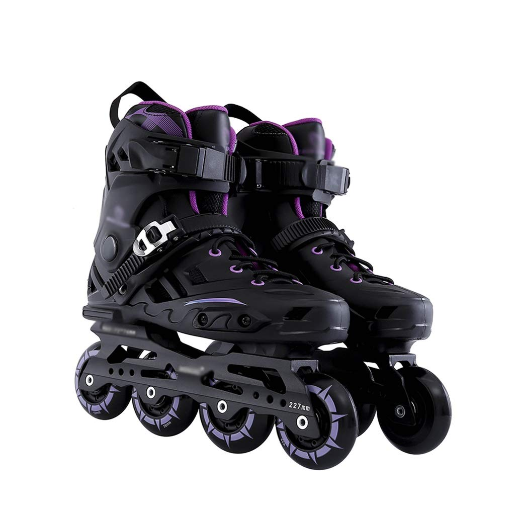 Gcxhlx Youth Beginner Illuminating Wheels Recreational Inline Roller Skates,Fun Flashing Men and Women Outdoor Performance Rollerblades Gift,Teen Iodoor Racing Skates for Male and Ladies