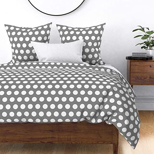Charter Stripe Duvet//Quilt Cover Bedding Sets With Matching Pillow Cases Dotted
