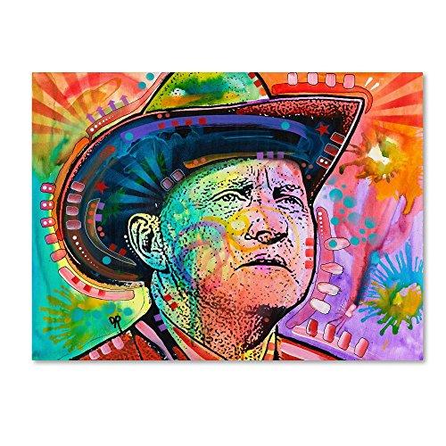 (Bill Monroe by Dean Russo, 14x19-Inch Canvas Wall Art)
