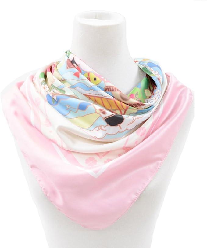 RongShi Flores de niña de moda Impresión de la bufanda de seda ...