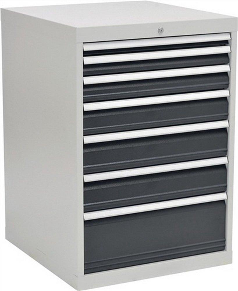 Schubladenschrank H1019xB705xT736 grau/anthr. 1x50 1x75 1x100 1x125 2x150 1x250