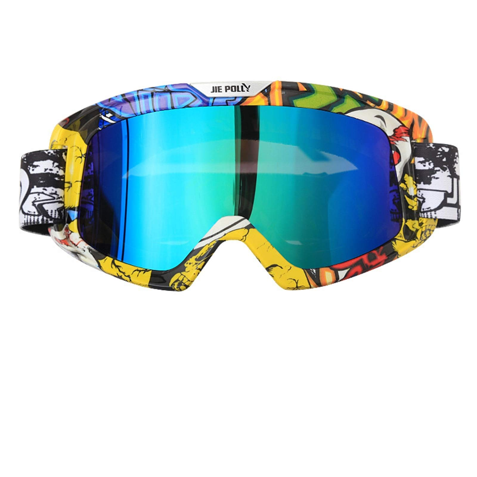 Adisaer Polarized Sports Sunglasses Motorcycle Equipment Off-Road ski Sand-Proof Goggles Colorful A01 for Adults