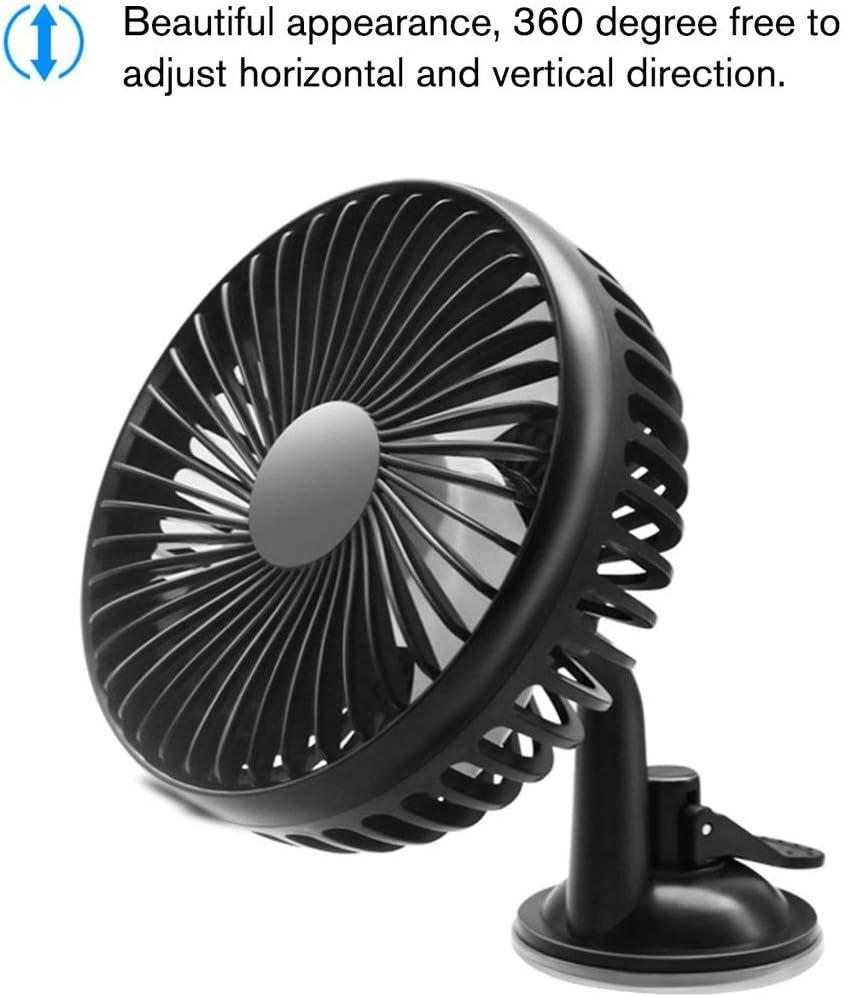 Petit Ventilateur /électrique FRjasnyfall Gros Camion Noir Ventilateur Universel pour Voiture 12V // 24V General Motors t/ête Simple Ventilateur USB avec Ventouse
