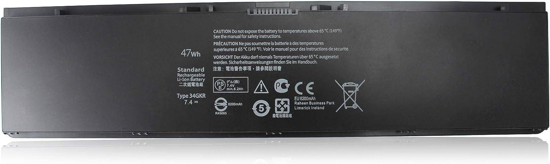 Shareway 34GKR Replacement Laptop Battery for Latitude 14-7000 Ultrabook 7000 E7440 E7450 E7420 E225846 G0G2M PFXCR 5K1GW 34GKR 3RNFD 909H5 0909H5 GV7HC 0GV7HC [7.4V 47Wh]