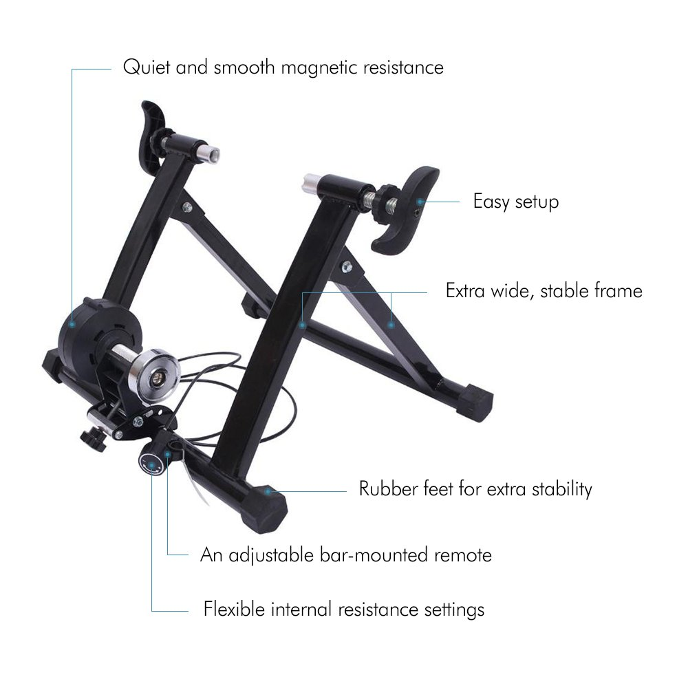 Ohuhu Magnet Steel Bike Bicycle Indoor Exercise Trainer Stand by Ohuhu (Image #2)
