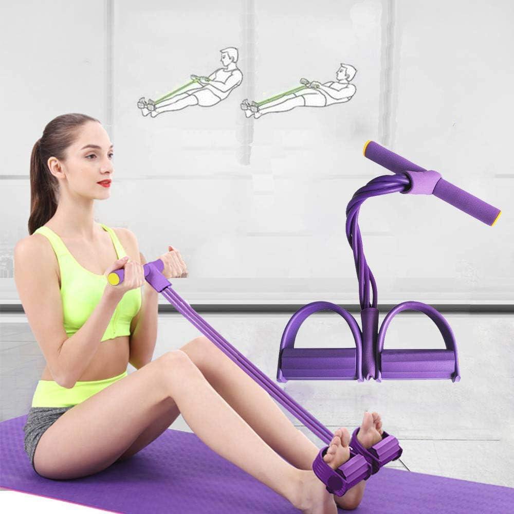 TM-mall - Bandas de resistencia para pedales, cuerdas elásticas para fitness, pedal, cuerpo, delgadas, bandas de yoga, entrenamiento, bandas de látex ...