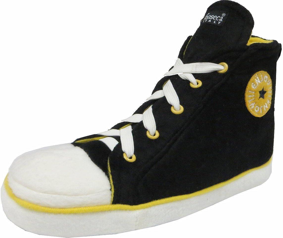 Noir Noir 40//41 EU Pantoufles Unisexe en Style Chaussures de Baseball pour Adulte