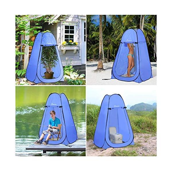 61UPVSA5ZXL Wolfwise Pop up Toilettenzelt Umkleidezelt, Camping Duschzelt Outdoor Mobile Toilette Umkleidekabine Lagerzelt