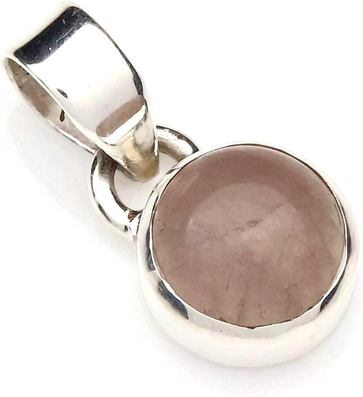 Colgante de plata 925 con cuarzo rosa (No: MAH 97)