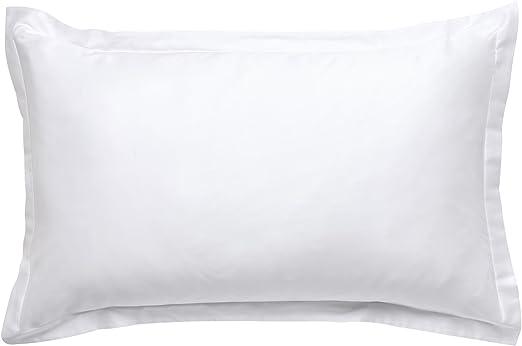 Funda de almohada rectangular 50 x 75 blanca Elba – satén de ...