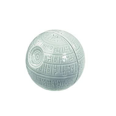 Side by Side Stackable A Must-Have Novelty Gift for Superfans Add a Shake of the Dark Side to Every Meal Death Star Ceramic Pots for Salt and Pepper Seasoning Star Wars Salt and Pepper Shakers