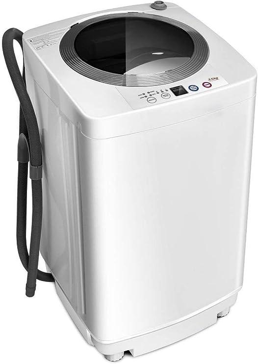 Giantex Compacto de lavandería Completa automática 8 lbs Capacidad ...