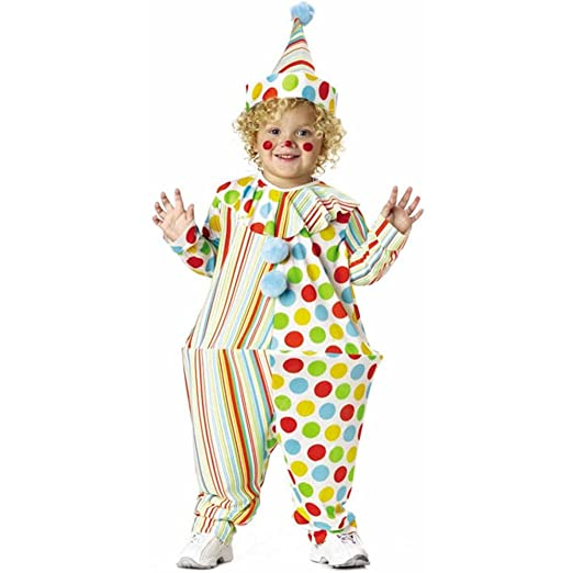 Amazoncom Toddler Hooped Clown Costume Size Toddler 2t 4t Clothing