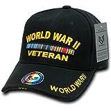 Rapiddominance WWII Vet DeLuxe Military Cap, Black