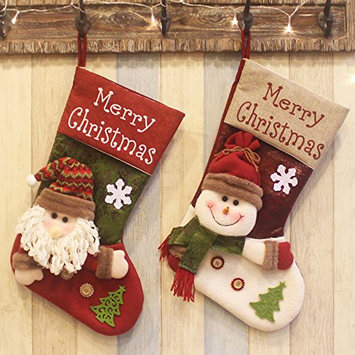 Plush Large Christmas Stocking (QBSM 2 Pack 18.8