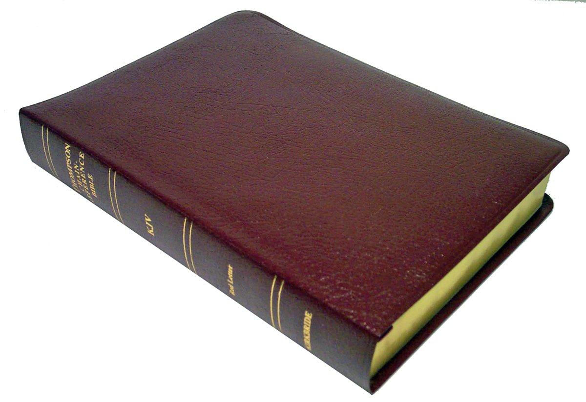 Download KJV - Burgundy Bonded Leather - Regular Size - Thompson Chain Reference Bible (015093) pdf