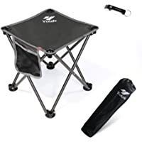 Small Folding Camping Stool Lightweight Chairs Portable Seat for Adults Fishing Hiking Gardening and Beach with Carry Bag