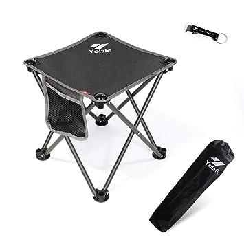 Amazon.com: Taburete pequeño plegable para camping, pesca ...