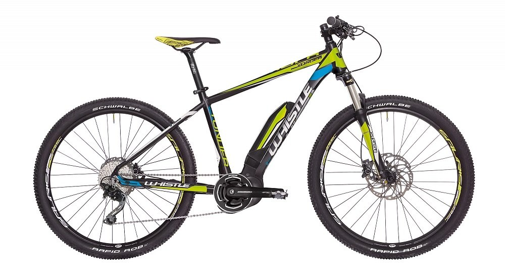 3d9f8a1098e WHISTLE Mountain Bike Electric eBike Yonder Motor Yamaha pw-x 400 Wh 10  Speed Black Yellow Size S 16