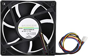 fosa PWM Cooling Fan, DC12V 1.6A 12CM Temperature Control Fast Heat Dissipation Quiet Cooling Case Fan, 4000RPM 154.5CFM Cooler Fan for DELL Precision 390 Workstation CPU Cooling and Other Equipment