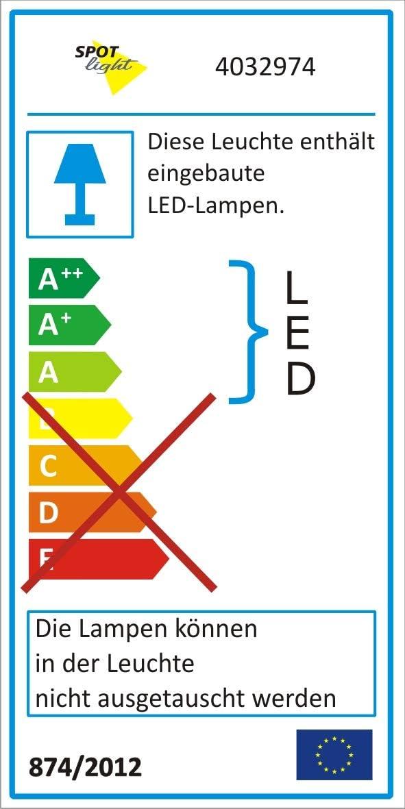 Spot-Light Deckenleuchte Sunniva LED Holz Nickel matt 2 Metall Eiche geölt