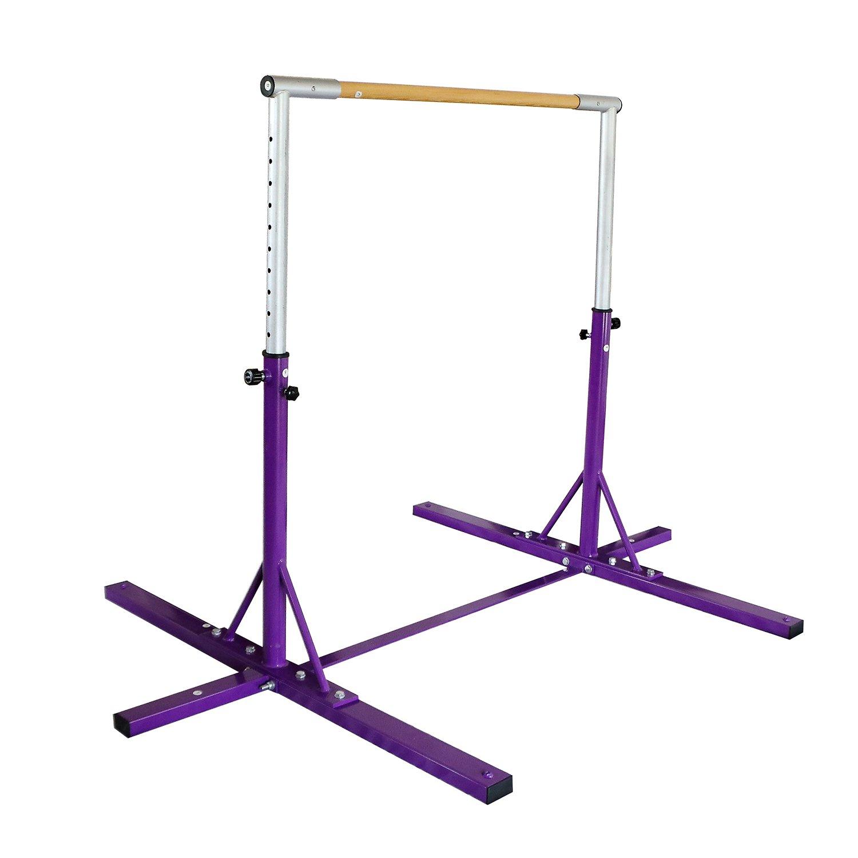 Bestmart INC Adjustable Height Kip Bar for Gymnastics(Purple) by Bestmart INC (Image #3)
