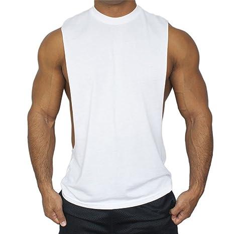 Qiansheng uomo fitness gilet Muscle Fit gilet traspirante allenamento  basket canotta senza maniche da ginnastica in 59bdd3843375