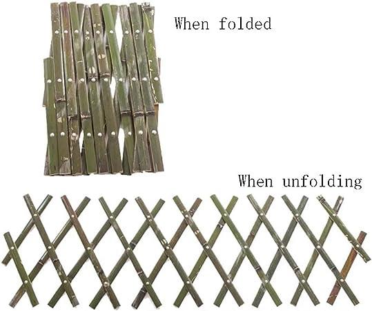 YYFANG Valla Madera Borde De Bambú Jardín Exterior Decoración De ...