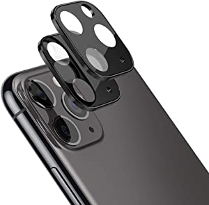 2 Pack Camera Lens Screen Protector for iPhone 11 Pro Max 6.5''/iPhone 11 Pro 5.8''Ultra Thin High Definition Bubble-Free Anti-Scratch Fingerprint Tempered Glass Camera Lens Protector,Black