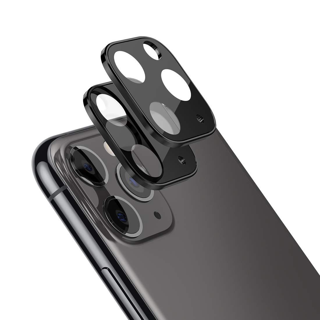 2 Vidrios Templados Para Camaras iPhone 11 Pro Y Max (negro)