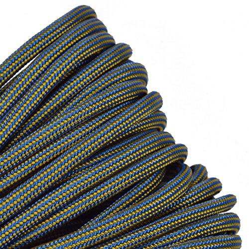 BoredParacord - 1', 10', 25', 50', 100' Hanks & 250', 1000' Spools of Parachute 550 Cord Type III 7 Strand Paracord Well Over 300 Colors - King TUT - 25 Feet ()
