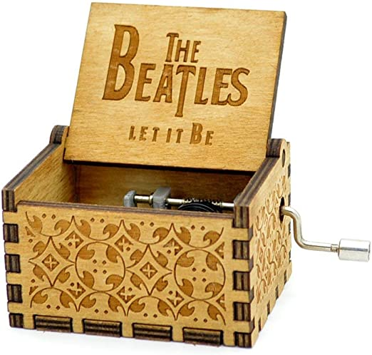 Caja de música de madera tallada antigua:los Beatles: Amazon.es ...