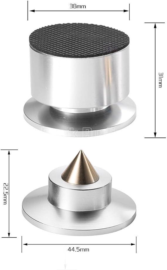 Amazon.com: Audio Douk Nobsound 4 piezas Aluminio Negro y ...