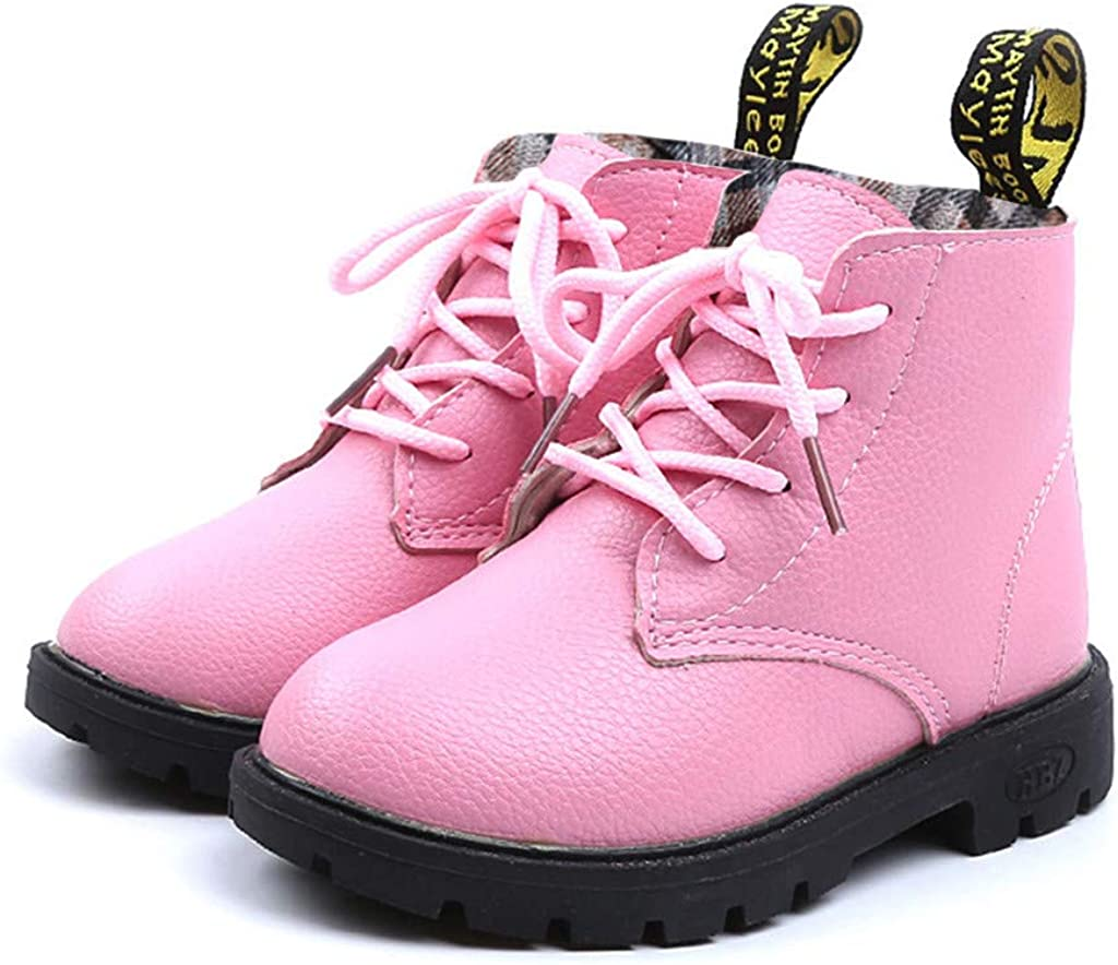 XEDUO Baby Warm Shoes Boys Girls Solid Lace Up Sneaker Snow Boots Casual Shoes