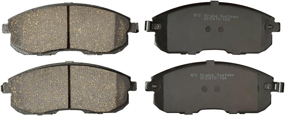KFE Ultra Quiet Premium Ceramic Front Brake Pad Set