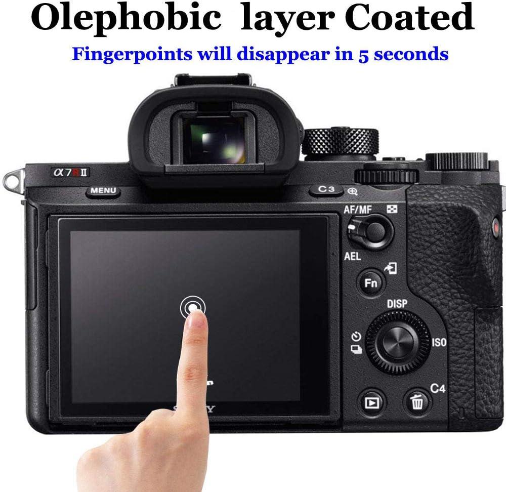 2 Pack A9 II Screen Protector Appliable for Sony Alpha A9 II ILCE9M2 A9II A9M2 Camera /& Hot Shoe Cover,ULBTER 0.3mm 9H Hardness Glass Screen Saver Anti-Scrach Anti-Fingerprint Anti-Bubble